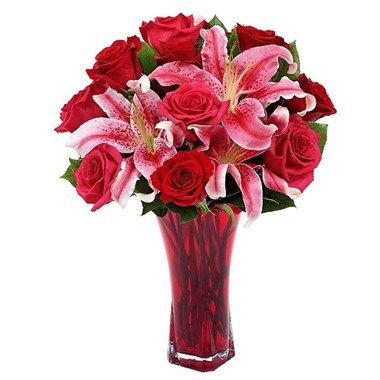 Raspberry red kisses flower bouquet (BF388-11K)